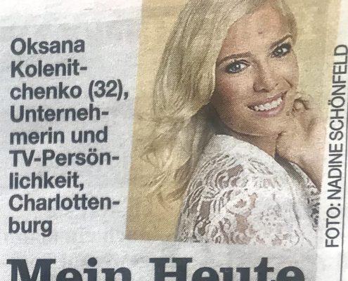"""B.Z. Berlin """"Mein Heute""""-Oksana Kolenitchenko"""
